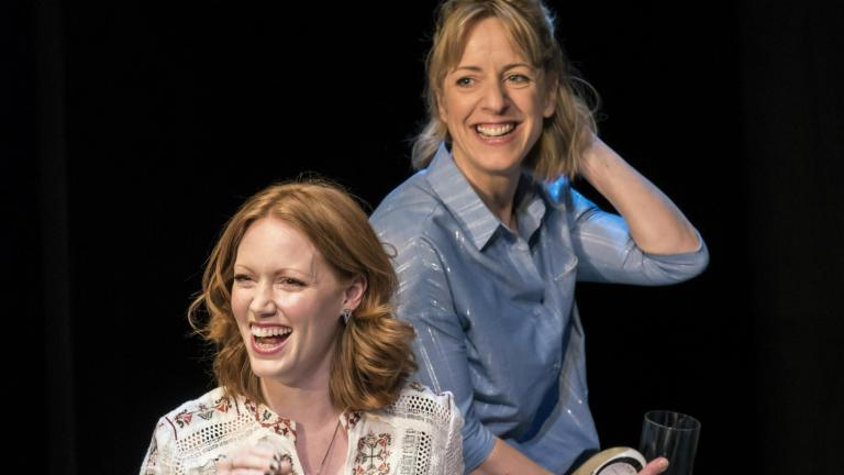 Clare Foster and Claudie Blakley in Consent at the Harold Pinter Theatre
