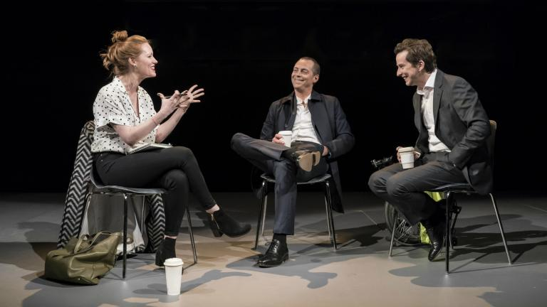 Clare Foster, Stephen Campbell Moore and Lee Ingleby in Consent at the Harold Pinter Theatre