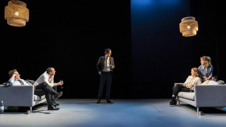 The company in Consent at the Harold Pinter Theatre