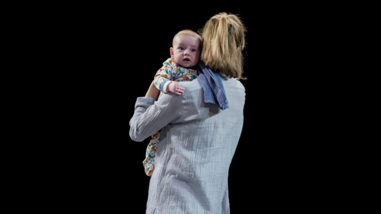 Consent image Anna Maxwell Martin holds a baby