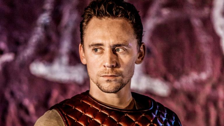 NT at Home Coriolanus production image of Tom Hiddleston