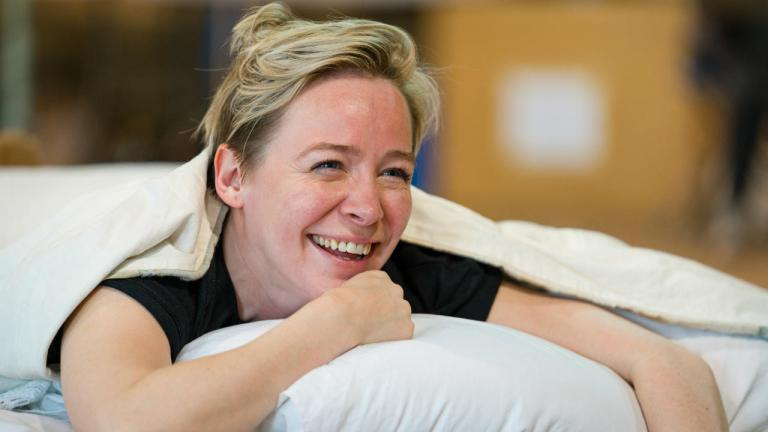 Daisy Maywood in rehearsals, as Wendy Darling