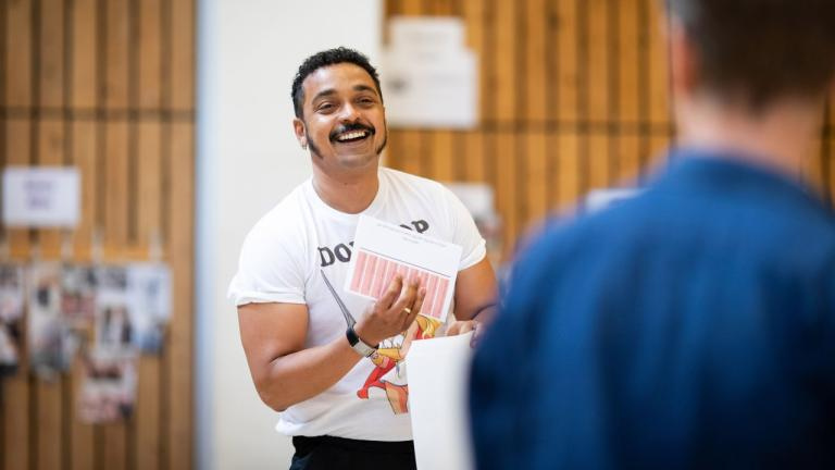 Danny Lee Wynter in rehearsal for The Normal Heart