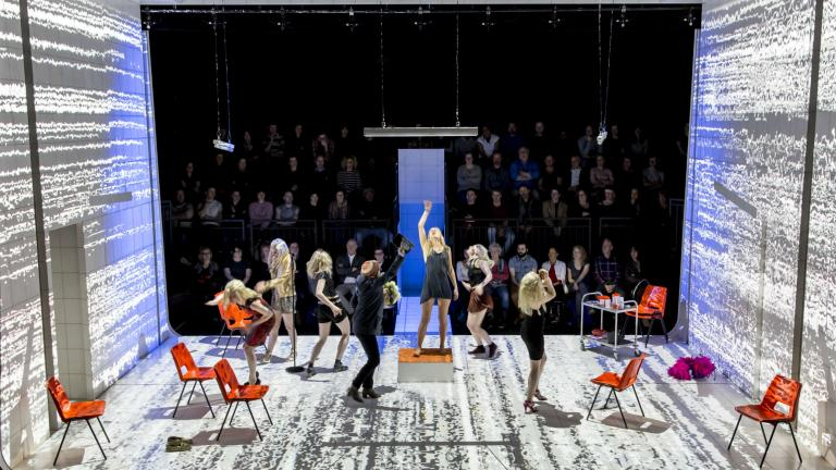 People Places and Things West End production with Denise Gough and company