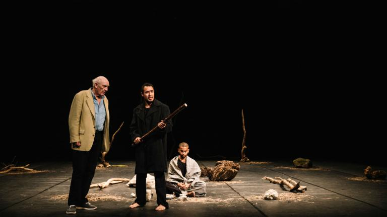 Donald Sumpter Omar Silva and Hiran Abeysekera in The Prisoner