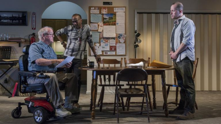 Francis Guinan (Fred), K. Todd Freeman (Dee) and Tim Hopper (Andy) in Downstate