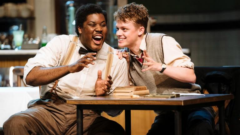 Hammed Animashaun and Anson Boon in Master Harold and the boys