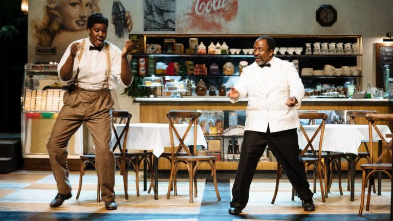 Hammed Animashaun and Lucian Msamati in Master Harold and the boys