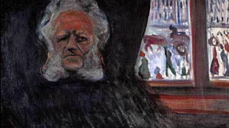 Henrik Ibsen at the Grand Café, Ibsen's portrait by Edvard Munch