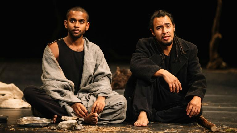 Hiran Abeysekera and Omar Silva in The Prisoner