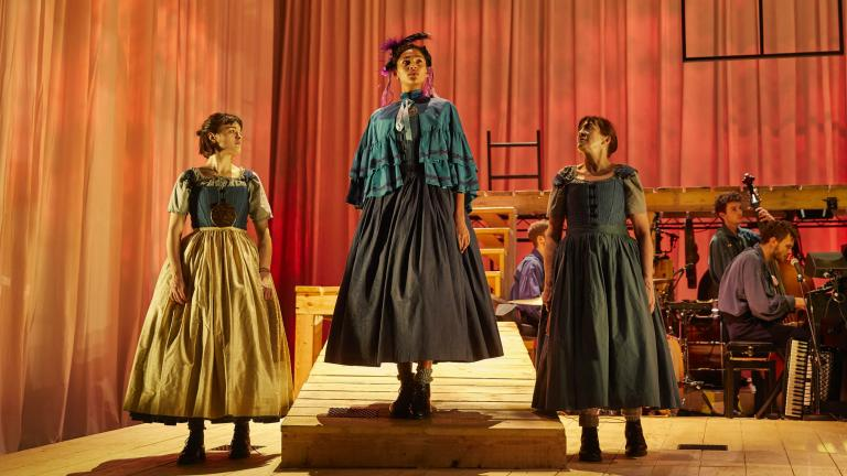 Jane Eyre 2017 Production photo with Hannah Bristow, Evelyn-Miller and Lynda-Rooke