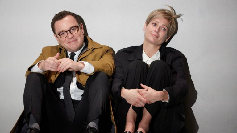 Joshua McGuire and Sian Brooke in Im Not Running by David Hare