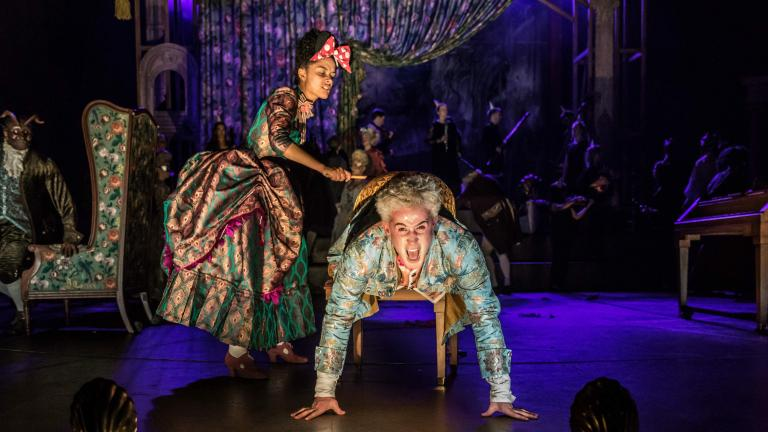 Karla Crome and Adam Gillen in Amadeus