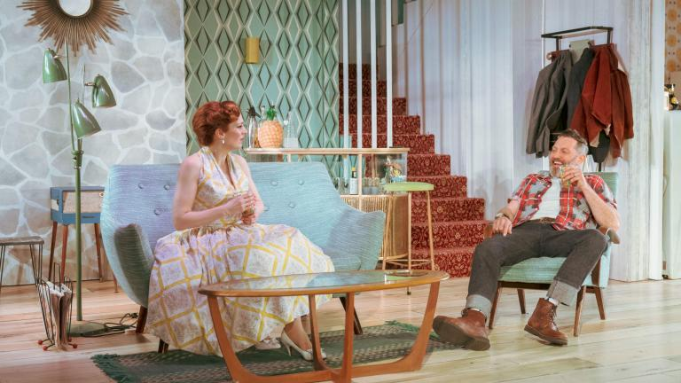 Katherine Parkinson and Hywel Morgan in Home, I'm Darling in the West End
