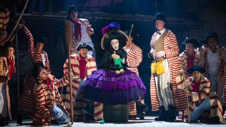 Kelly Price as Captain Hook and the Peter Pan cast