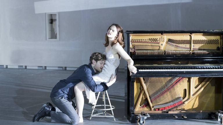 Kyle Soller and Ruth Wilson in Hedda Gabler