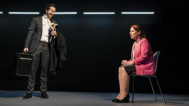 Lee Ingleby and Heather Craney in Consent at the Harold Pinter Theatre