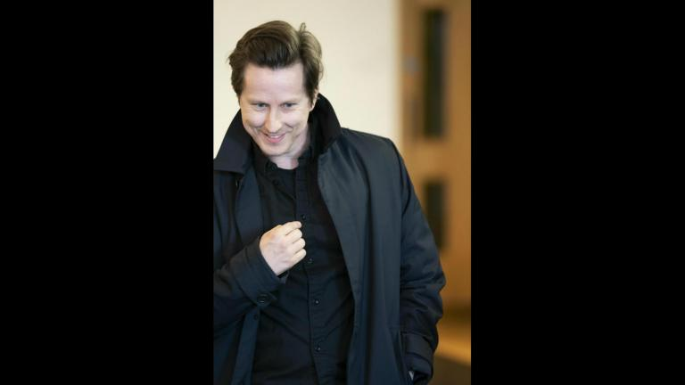 Lee Ingleby in rehersal for Consent