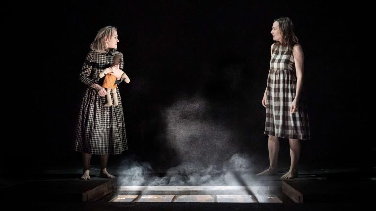 My Brilliant Friend Production image with Niamh Cusack and Catherine McCormack