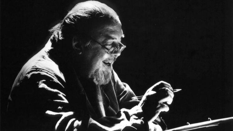 Peter Hall in rehearsals for 1996's The Oedipus Plays