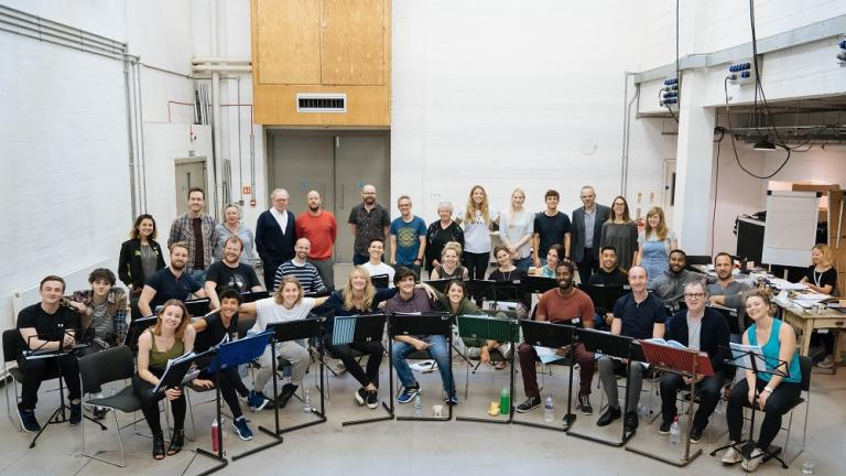 The Pinocchio company on the first day of rehearsals