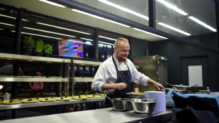 Polis Butkus in the Foodwork Kitchen for Network