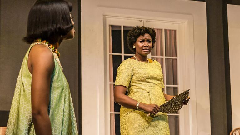 Racheal Ofori (Udo) and Sarah Niles (Lolo) in Three Sisters