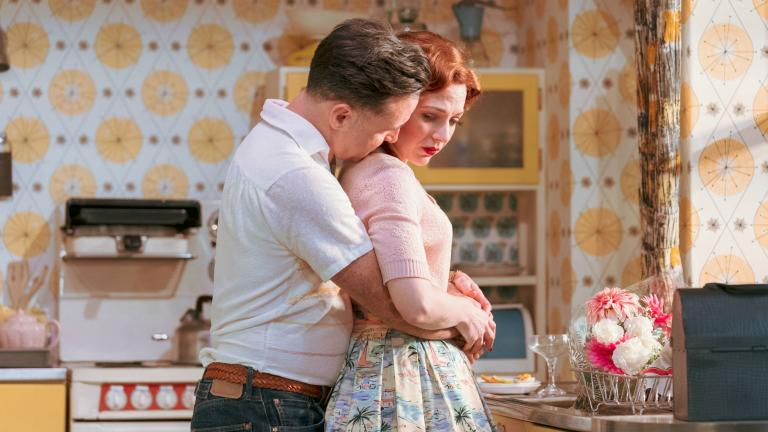 Richard Harrington and Katherine Parkinson in Home, I'm Darling in the West End