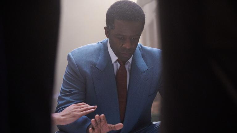 Romeo and Juliet production image with Adrian Lester