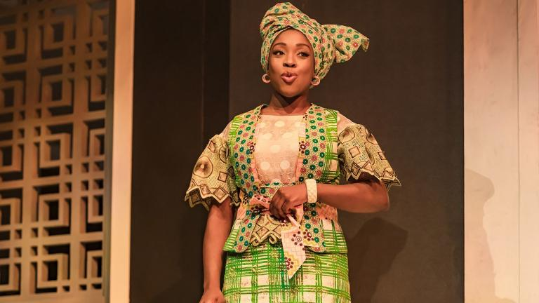 Ronke Adekoluejo (Abosede) in Three Sisters