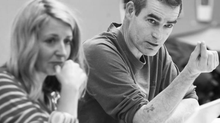 Rufus Norris and Alecky Blythe in rehearsals credit Richard Hubert Smith