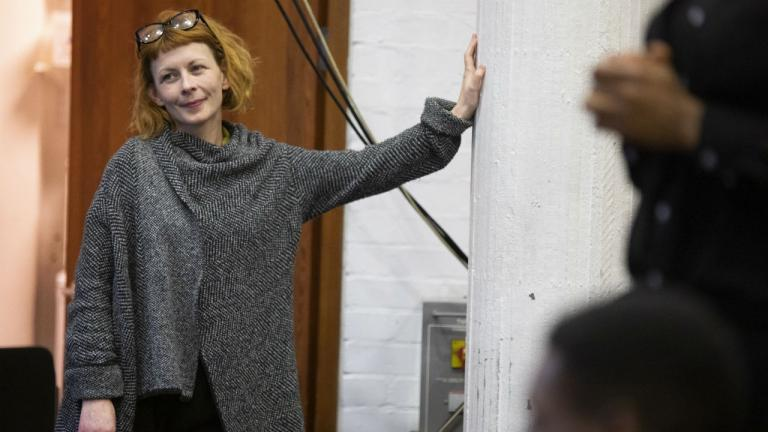 Ruth Mary Johnson (Director)  in The Winter's Tale rehearsals