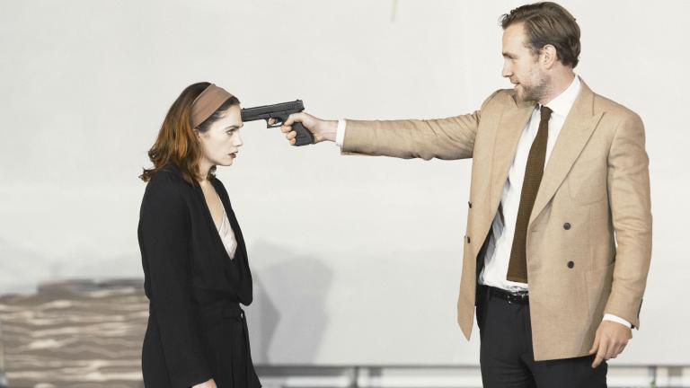 Ruth Wilson and Rafe Spall in Hedda Gabler