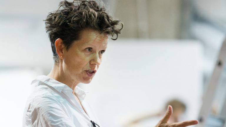 Sally Cookson in Peter Pan rehearsals