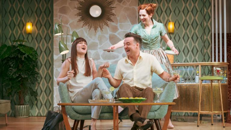 Sara Gregory and Richard Harrington in Home, I'm Darling in the West End
