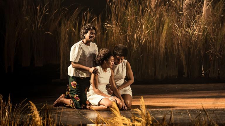 Sarah Niles (Lolo), Racheal Ofori (Udo) and Natalie Simpson (Nne Chukwu) in Three Sisters