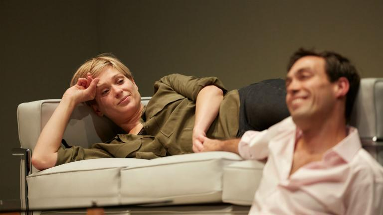 Sian Brooke and Alex Hassell in Im Not Running by David Hare