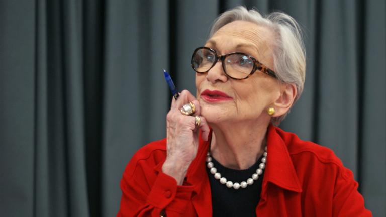 Siân Phillips in rehearsal