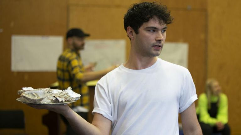 Stanton Wright as Florizel in The Winter's Tale rehearsals at the National Theatre