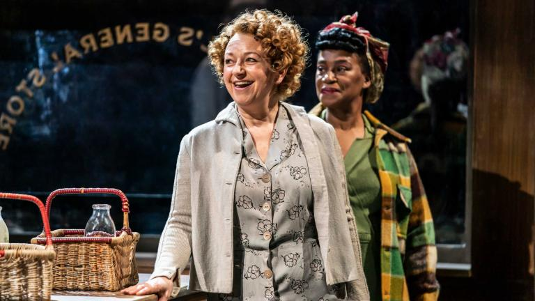 The Visit production image with Liz Izen and Flo Wilson