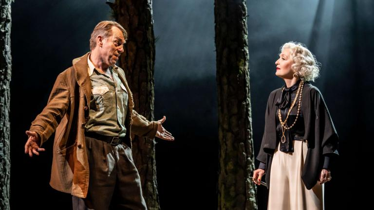 The Visit production image with Hugo Weaving and Lesley Manville