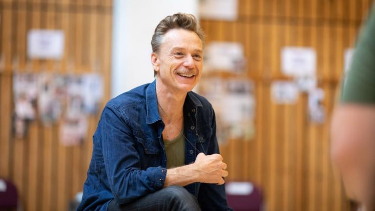 Ben Daniels in rehearsal for The Normal Heart