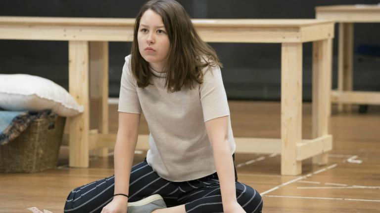 Liv Hill in rehearsals for Top Girls