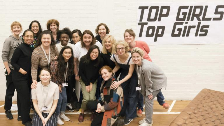 The Top Girls company in rehearsals