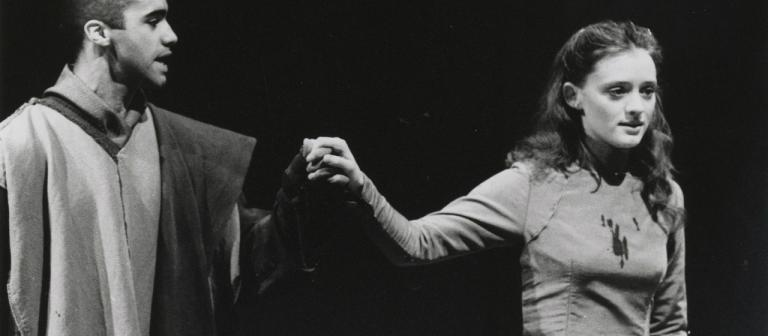 Anne-Marie Duff and Adrian Irvine in King Lear 1997