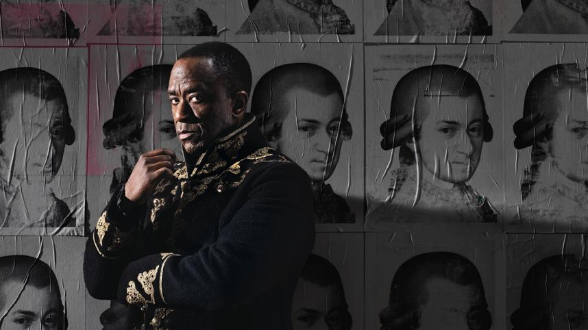 Amadeus poster. Photo of Lucian Msamati