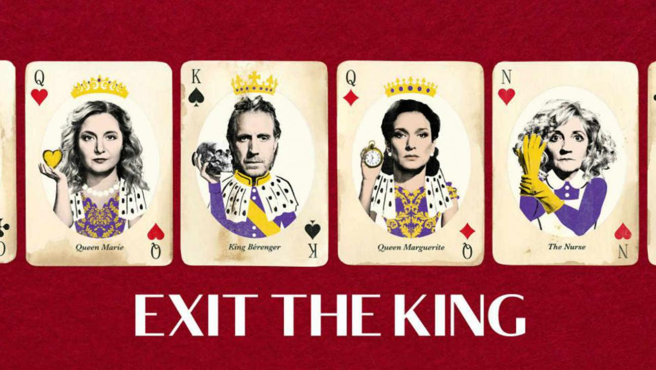 Exit the King cast on playing cards