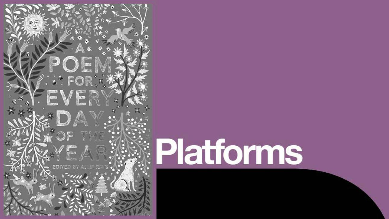 A Poem for every day of the year Platform - b&w image of dustjacket