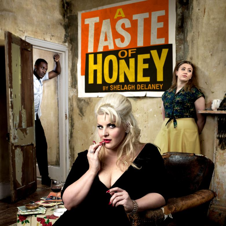 A Taste of Honey poster, with Jodie Prenger, Gemma Dobson & Alvin Ikenwe