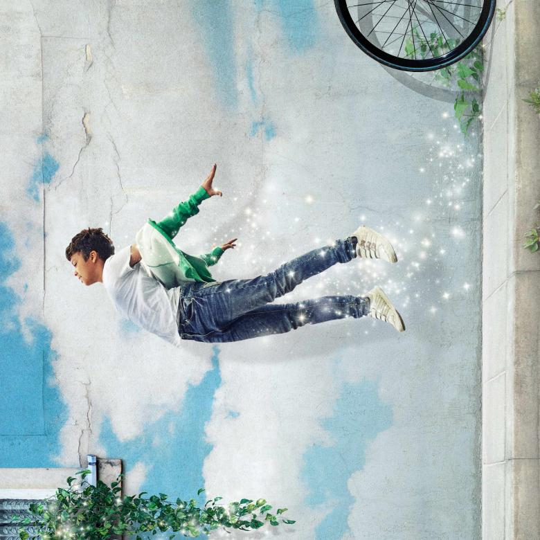 Peter Pan poster with a boy 'flying'